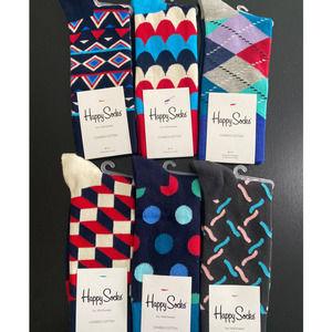 Happy Socks - 6 pairs - NEW - Size: 9-11 II